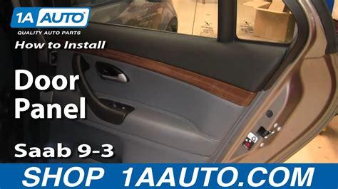 install replace remove rear door panel saab