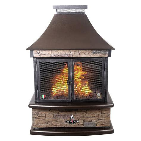 fireplace propane heater lava heat italia 30 000 btu heritage bronze steel outdoor
