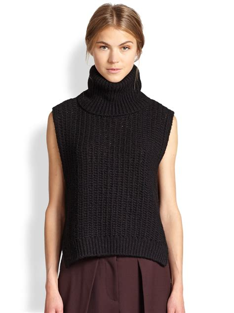 sleeveless turtleneck sweater 3 1 phillip lim alpaca sleeveless turtleneck sweater in
