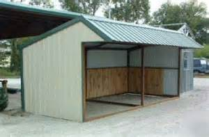 9x20 all steel loafing shed candy s next project