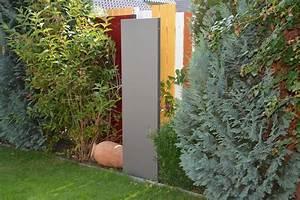 Sichtschutz 50 Cm Hoch : stele sichtschutz schmal 180 x 50 x 4 cm aus metall ~ Bigdaddyawards.com Haus und Dekorationen
