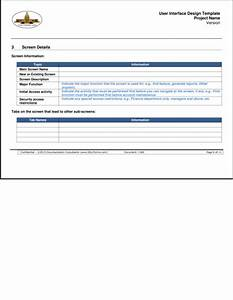sdlcforms user interface design template With user interface design document template
