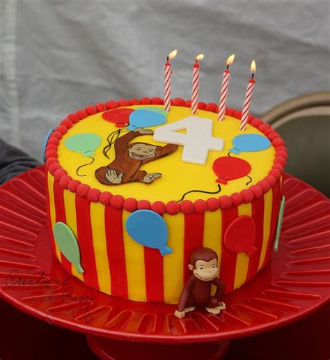 curious george birthday cake curious george party