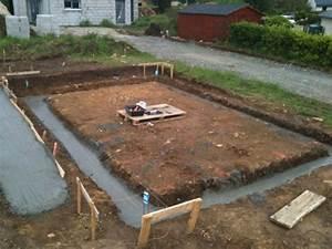 construction garage terrassement et fondations le With comment faire terrassement pour parking