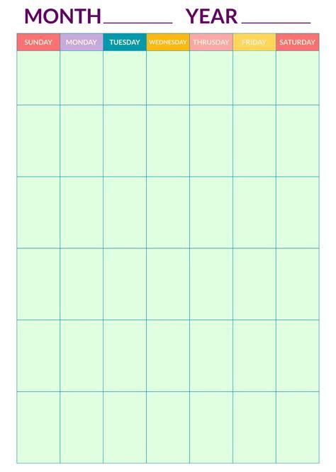6 Best Blank Printable Calendar - printablee.com