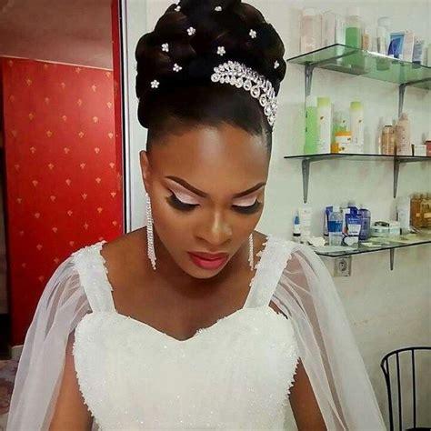 beautiful wedding day   hair style  black women