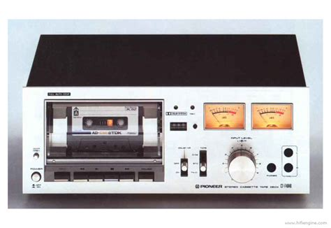 pioneer ct  manual stereo cassette tape deck hifi engine