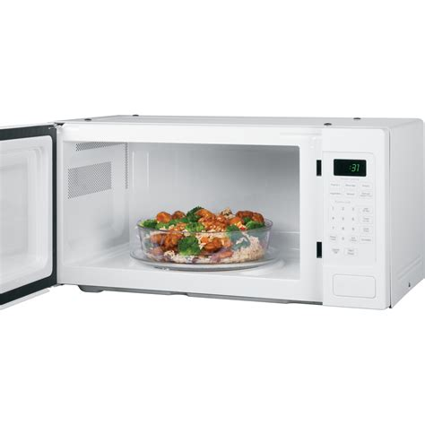 white countertop microwave ovens pem31dfww ge profile series 1 1 cu ft countertop