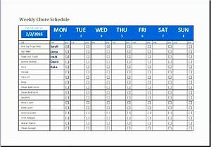 Family Chore Chart 5 Chore Chart Template Excel Excel Templates Excel