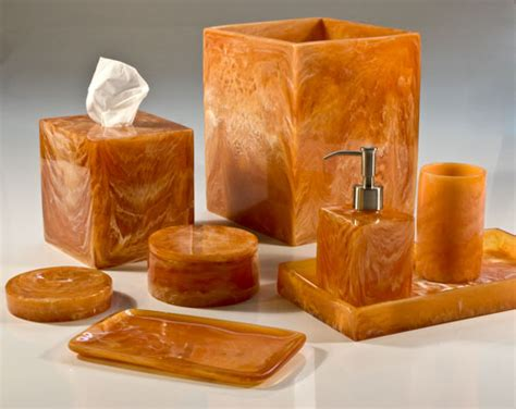 Wicker Bathroom Accessory Sets by Corsica Spice Orange Bath Accessories By Mike Amp Ally