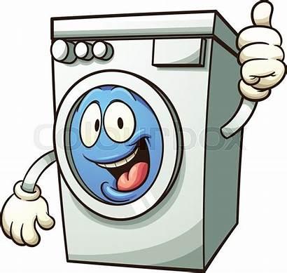 Washing Machine Vector Cartoon Clip