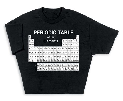 periodic table t shirt look smart with periodic table of elements t shirt