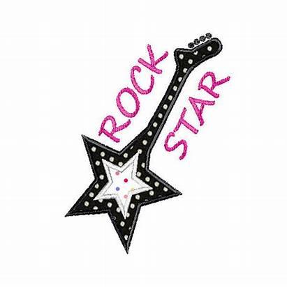 Rock Star Clipart Rockstar Guitar Embroidery Clip