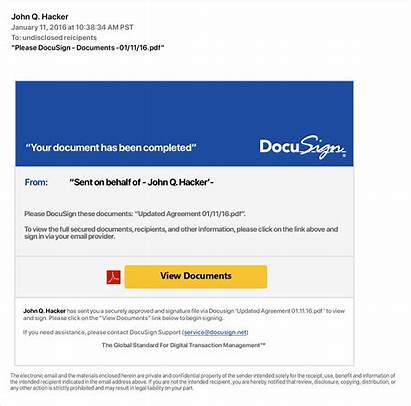 Docusign Incident Email Reporting Example Security Phishing