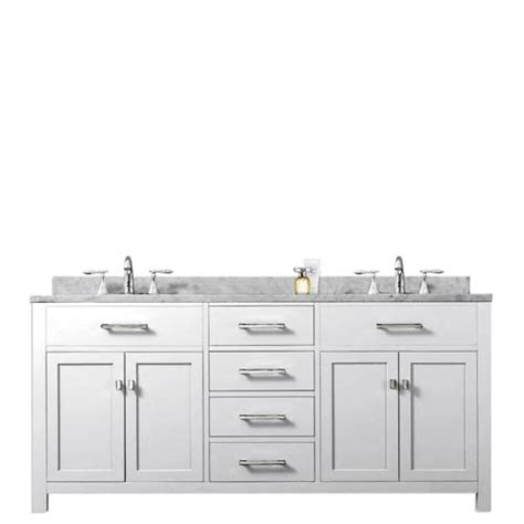madison pure white 60 inch double sink bathroom vanity