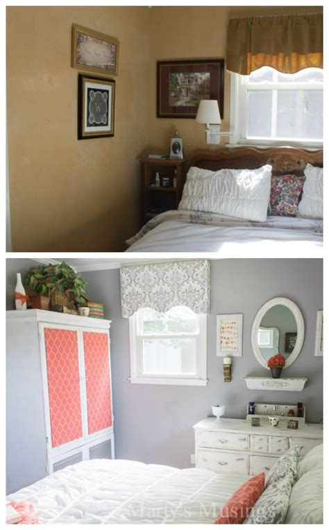 Gray And Coral Bedroom Makeover Budget Tips And Tricks