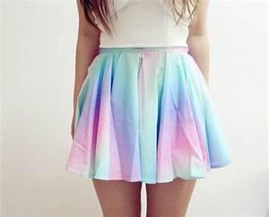 Skirt girly girly girly outfits tumblr girly plaid skirt skater skirt rainbow nice nice ...