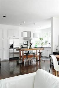 Table de cuisine bar ilot de cuisine fait sur mesure 12 for Meuble salle À manger avec chaise de cuisine de couleur