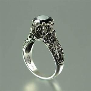 the enchanted princess black diamond 14k gold engagement ring With black and diamond wedding rings