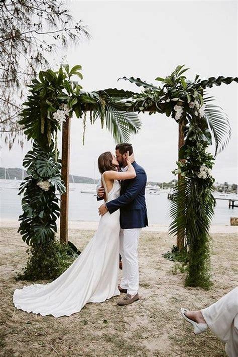 20 Stunning Beach Wedding Ceremony Ideas Backdrops Arches