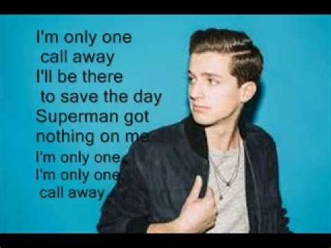 puth phone number puth one call away fan lyrics
