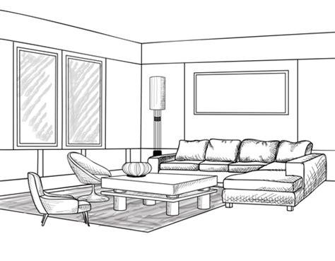 sketsa desain interior  jendela rumah minimalis