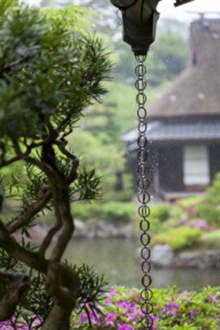rain chains decorative alternatives  downspouts