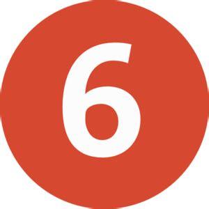 Number 6 Clip Art At Clkercom  Vector Clip Art Online