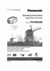 Pv-gs320 Manuals