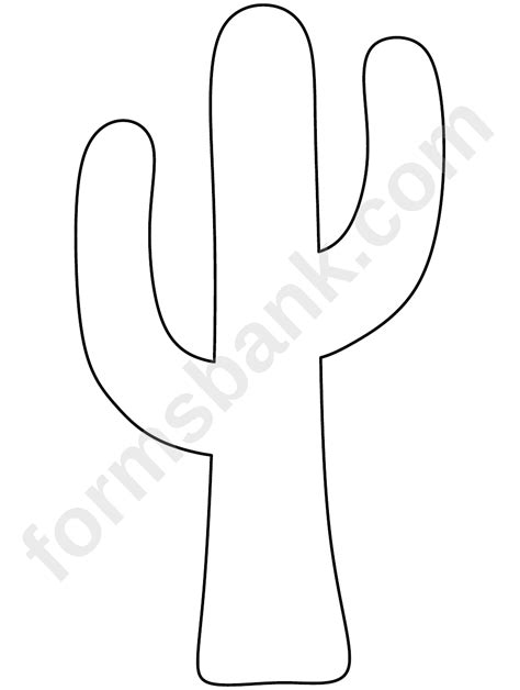 cactus template printable