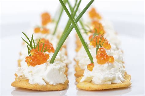 summer canapes appetizers with caviar appetizers
