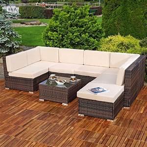 Polyrattan Lounge Sale : polyrattan sitzm bel braun sitzgruppe sofa lounge gartenset rattanm bel neu ebay ~ Whattoseeinmadrid.com Haus und Dekorationen