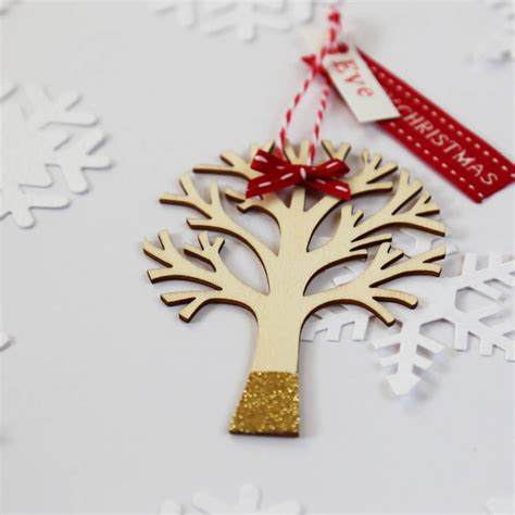 personalised christmas tree decoration by buttongirl
