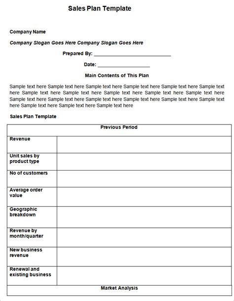 sales strategy plan template sales plan template 11 free word excel pdf format free premium templates