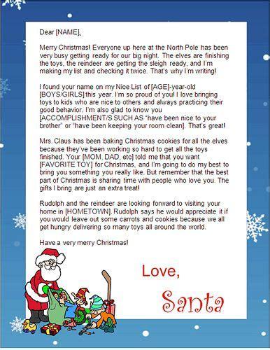 print  santa letters  home