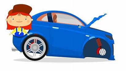 Cartoon Cars Accident Doctor Truck Kid Race