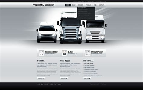 Transport Website Template transportation website template 38971