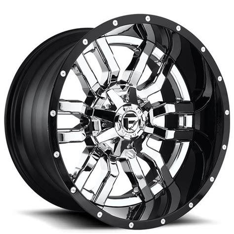 fuel wheels  sledge chrome  gloss black lip