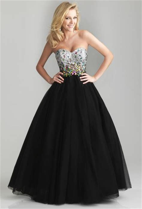 Night Moves 6653 Beaded Bodice Tulle Ball Gown French Novelty