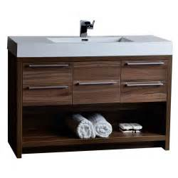 free kitchen faucet 47 quot modern bathroom vanity set walnut finish tn l1200 wn conceptbaths
