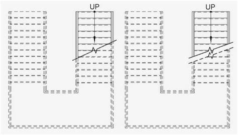 Revit Oped Stair Cut Mark Zigzag