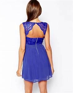 elise ryan robe bleue patineuse effet cache coeur en With robe bleu patineuse