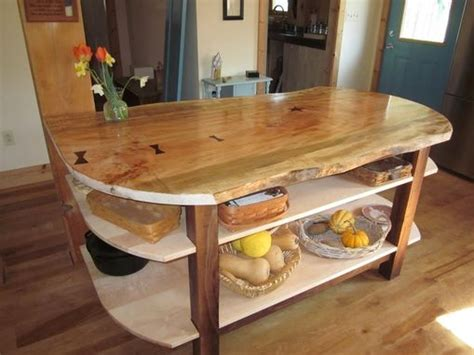 maple kitchen island made wide live edge maple kitchen island with walnut 4000