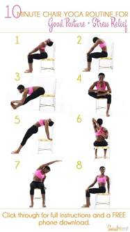 25 best ideas about chair on office chair poses and exercise