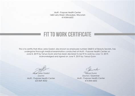 work certificate template   word excel
