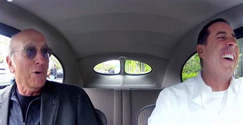 Jerry seinfeld borrows a super fancy or rare car, picks up a celebrity, usually a comic, and the pair go out to eat. Jerry Seinfeld's Online 'Comedians in Cars Getting Coffee' - NYTimes.com