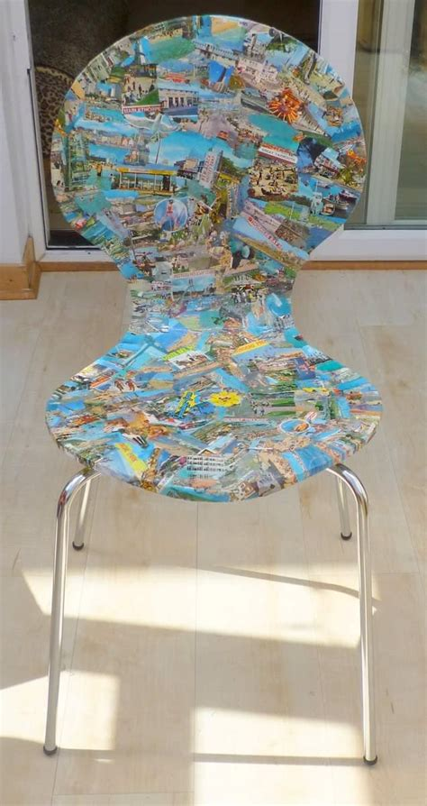 upcycled postcard chairs recyclart
