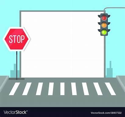 Traffic Crossing Pedestrian Stop Sign Lights Vector