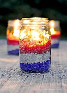 Patriotic Rice Candles - Mason Jar Crafts Love
