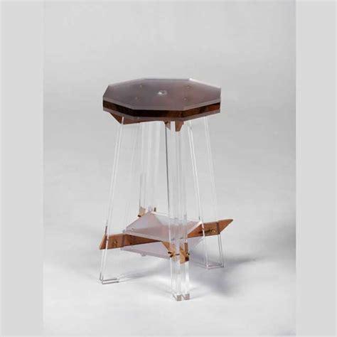 sgabello plexiglass sgabello plexiglass e legno pregiato hillsideout ludovic